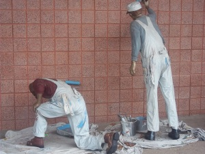 Painter Statues