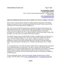 San Manuel Press Release