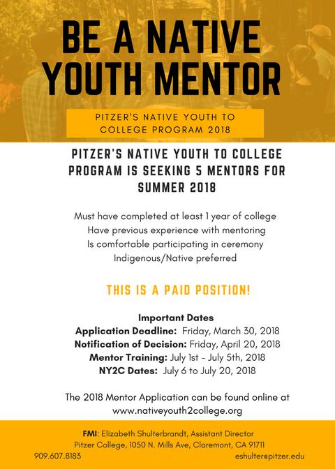 2018 Mentor Job Announcement Flyer